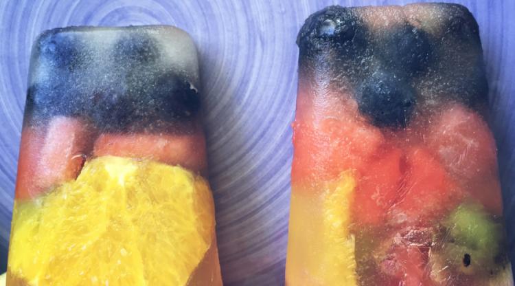 #Glaces aux #Fruits et eau de coco